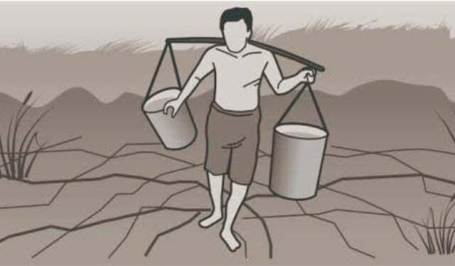 ilustrasi kesulitan air bersih