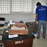 Brangkas DPRD Sumbawa yang di rusak pencuri