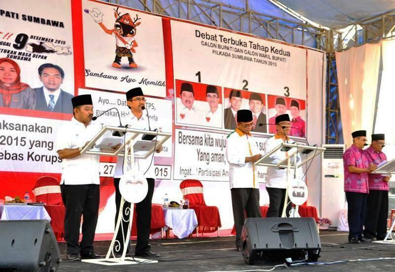 Situasi Debat jilit II, Pilkada Sumbawa