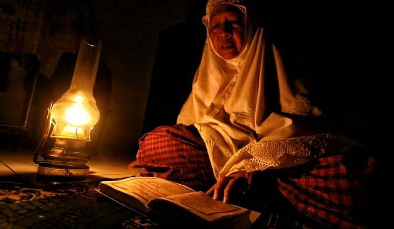 Ilustrasi Masyarakat Prode tidak ada lampu