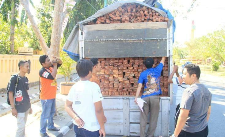 truk kayu asal dompu
