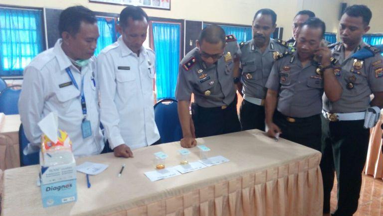 tes urine BNN Kabupaten Sumbawa