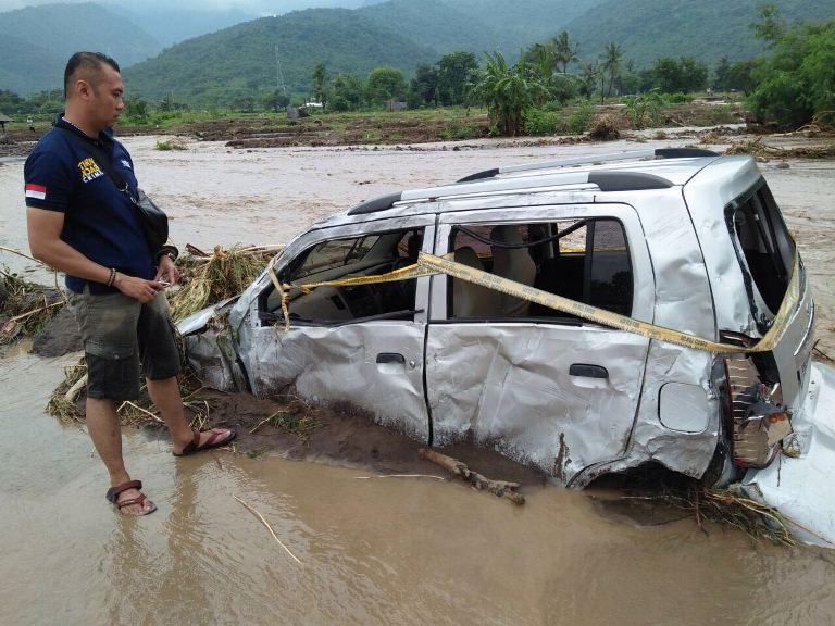 Situasi banjir di kecamatan sambelia