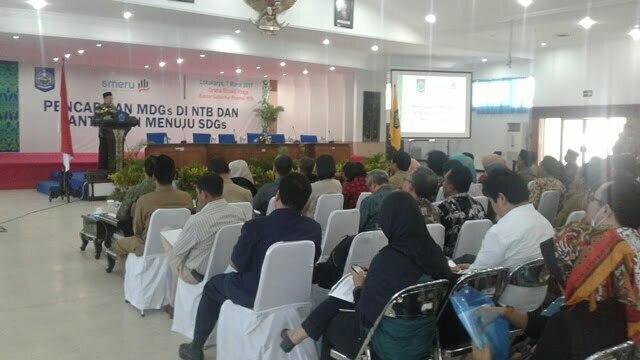 Acara Lokakarya pencapaian MDGs NTB
