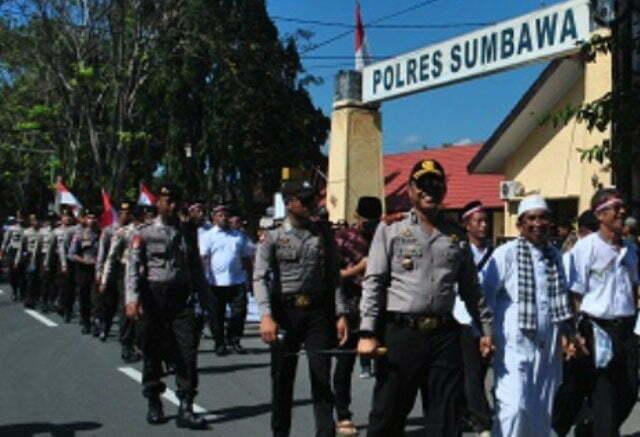pengamanan aksi indonesia bebas rasis