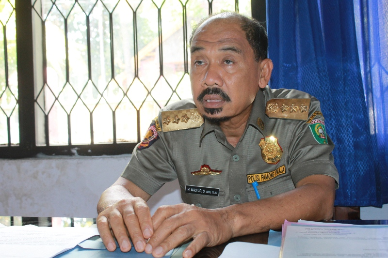 Kepala Dinas Pol PP Sumbawa, Mas'ud S.Sos M.Si