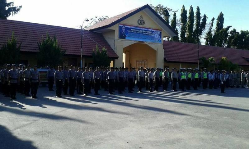 gelar pasukan Polres Sumbawa