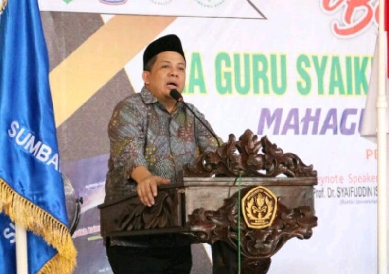 H. Fahri Hamzah wakil ketua DPR RI