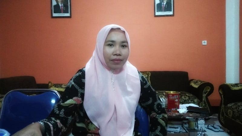 Aryati, S.Pd.I ketua Devisi SDM dan Partisipasi Masyarakat, KPU Sumbawa