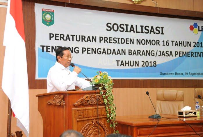 Sekretaris Daerah Kabupaten Sumbawa Drs. H. Rasyidi