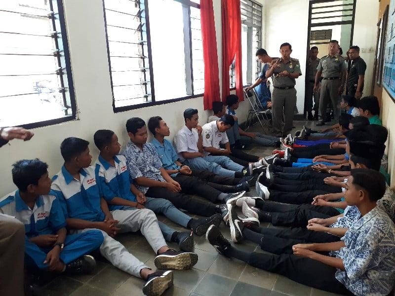 puluhan pelajar diamankan polpp