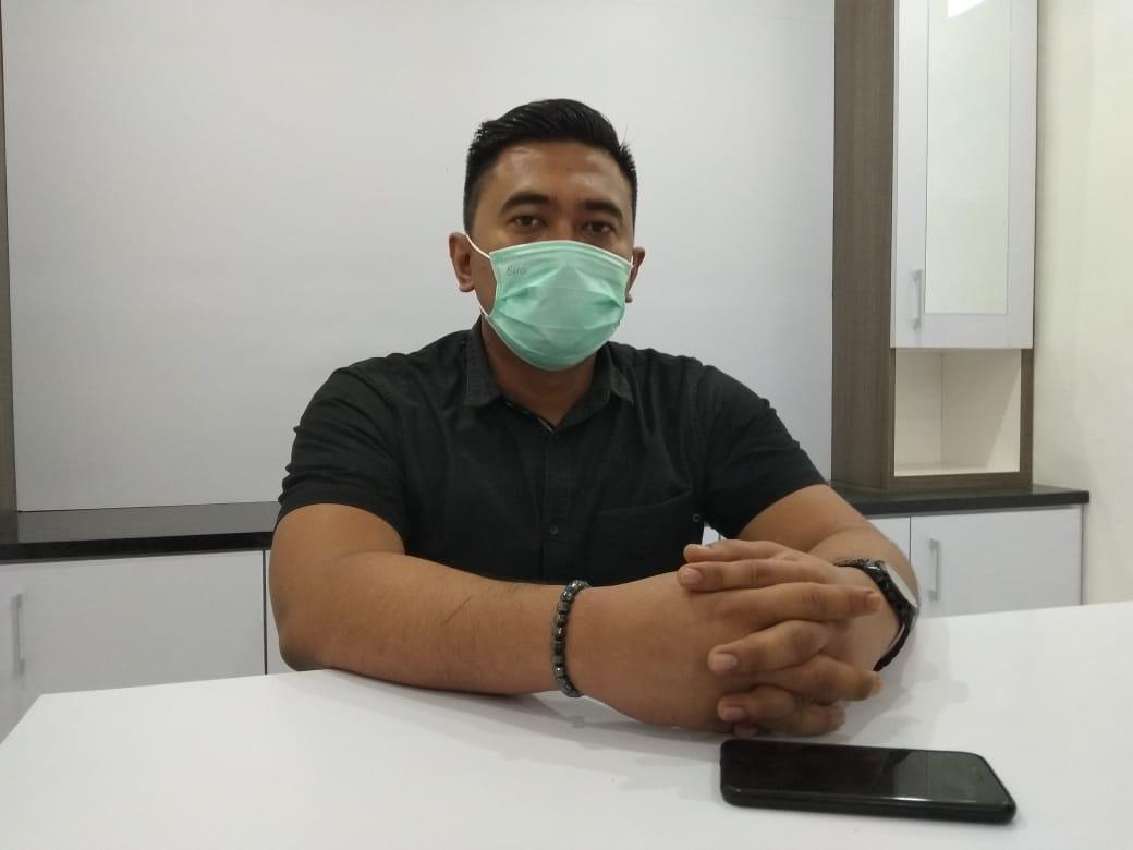 Kasat Reskrim Polres Sumbawa, Iptu Akmal Novian Reza SIK (penggunaan masker dalam rangka pencegahan Covid-19)