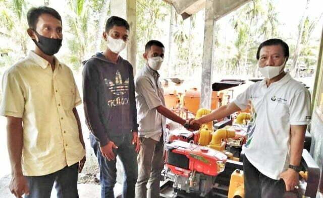 Ghatan Realisasikan Bantuan Mesin Pompa Air dan Sumur Bor di Desa Ngeru