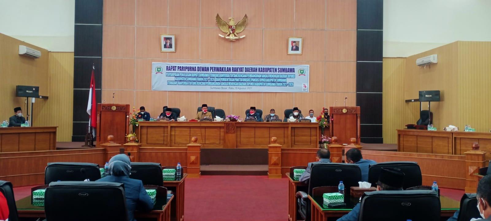 Paripurna Ranperda RPJMD Kabupaten Sumbawa Tahun 2021-2026