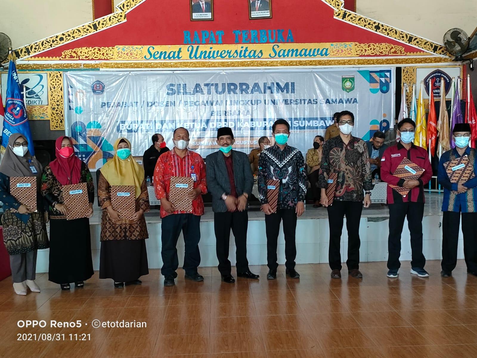 Civitas Akademik UNSA Temu Silaturahmi dengan Bupati dan Ketua DPRD Sumbawa