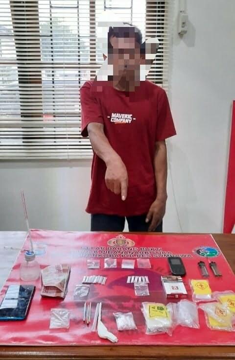 Tangkap Bandar di Gapit, Polisi Amankan 16 Poket Sabu