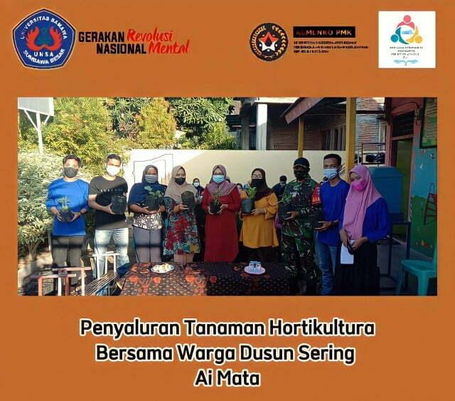 Edukasi Holtikultura, Kelompok 10 KKN GNRM UNSA Bagikan Bibit Gratis