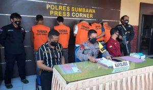 Polres Sumbawa Tahan 5 Tersangka Kasus Pencurian